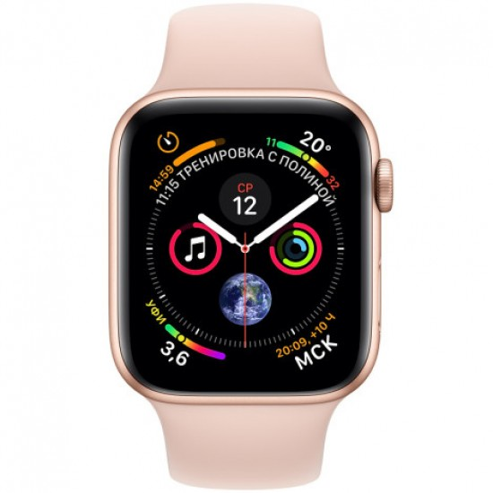 Apple Watch Series 4 40mm (GPS) Gold Aluminum Case with Pink Sand Sport Band