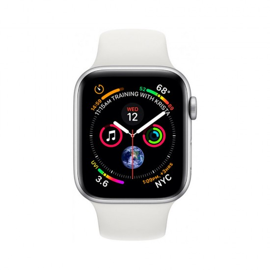 Apple Watch Series 4 40mm (GPS) Silver Aluminum Case with White Sport Band