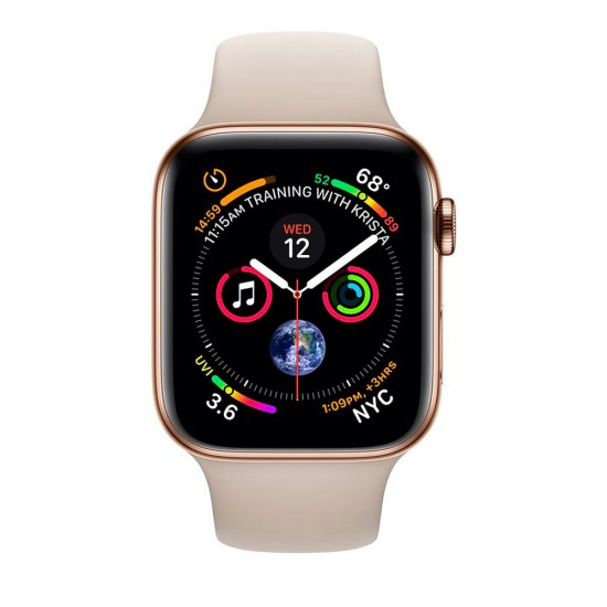 Apple Watch Series 4 44mm (GPS+LTE) Gold Stainless Steel Case with Stone Sport Band