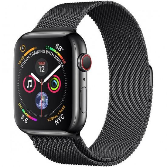 Apple Watch Series 4 44mm (GPS+LTE) Space Black Stainless Steel Case with Space Black Milanese Loop