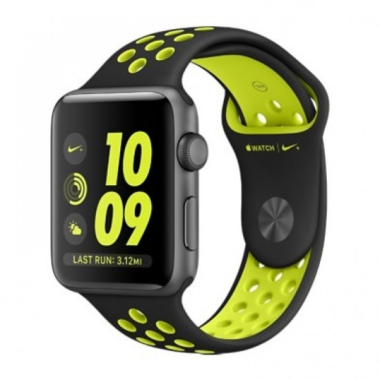 Apple Watch Nike+ 38mm Space Gray Aluminum Case with Blk /Volt Nike Sport Band (MP082)