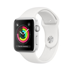Apple Watch Series 3 38mm (GPS) Silver Aluminum Case with White Sport Band (MTEY2)