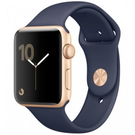 Apple Watch Series 2 38mm Gold aluminium case midnight blue MQ132