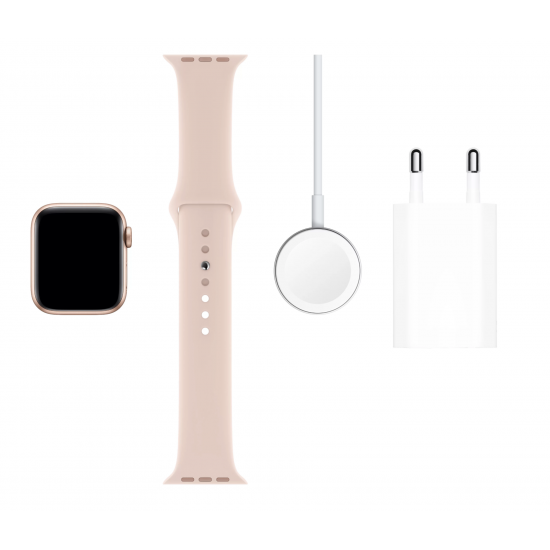 Apple Watch Series 5 40mm Gold Aluminum Case with Pink Sand Sport Band MWV72