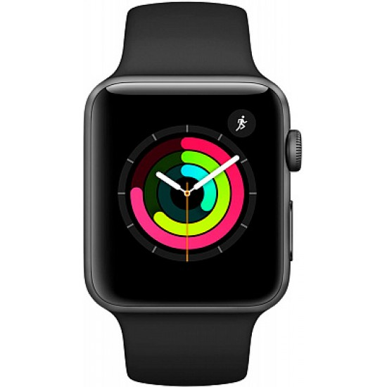Apple Watch Series 3 GPS 42mm Space Gray Aluminum w. Black Sport B. - Space Gray (MTF32)