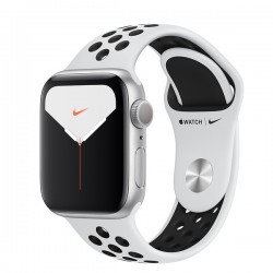 Apple Watch Nike Series 5 (GPS) 40mm Silver Aluminum Case with Pure Platinum/Black Nike Sport Band (MX3R2)