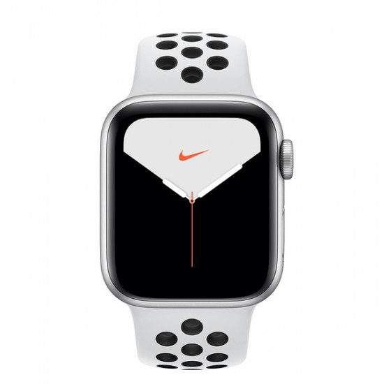 Apple Watch Nike Series 5 (GPS) 44mm Silver Aluminum Case with Pure Platinum/Black Nike Sport Band (MX3V2)